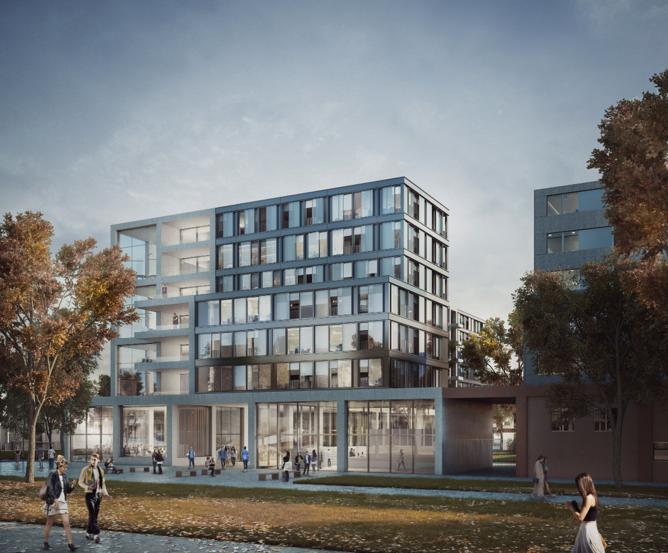 Construction d'une résidence étudiante ZAC du Quartier de l'Ecole Polytechnique à Palaiseau (91)