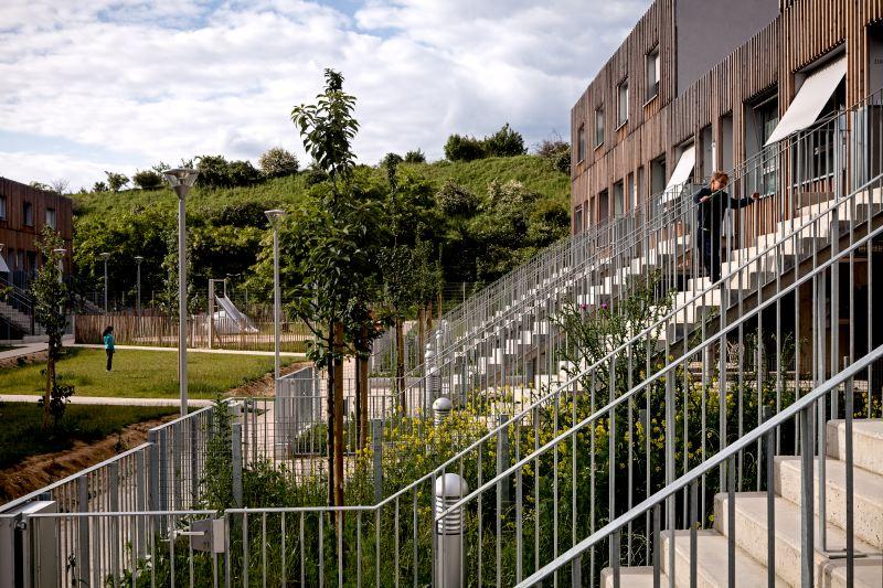 Logements sociaux à Valenton (Val de Marne) - TVK architectes - Photographie de Pierre-Yves Brunaud / Picturetank